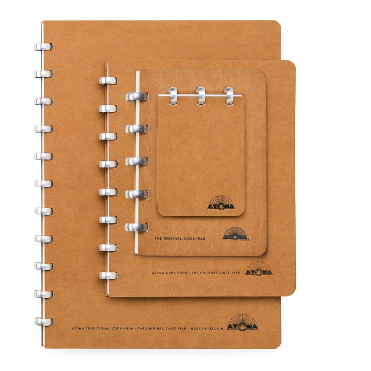 A5 Notebook with Blank Pages by Atoma, Brown