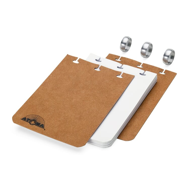 A7 Notebook with Blank Pages by Atoma, Brown