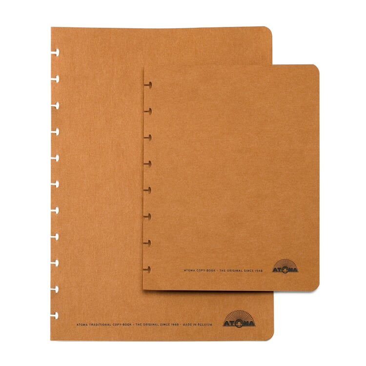 Set of Extra Wide A4 Texon Covers Brown