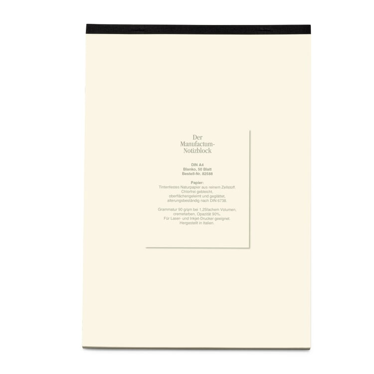 Manufactum A4 Memo Pad Blank