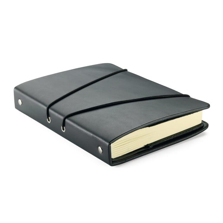 Notizbuch Leder und Büchertuch, A5