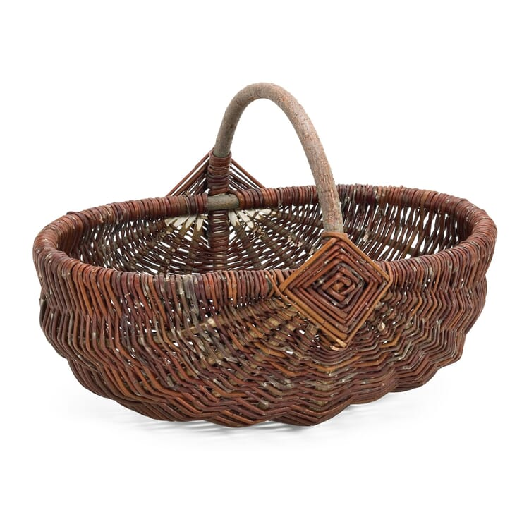 Wicker Basket with Handle, Large