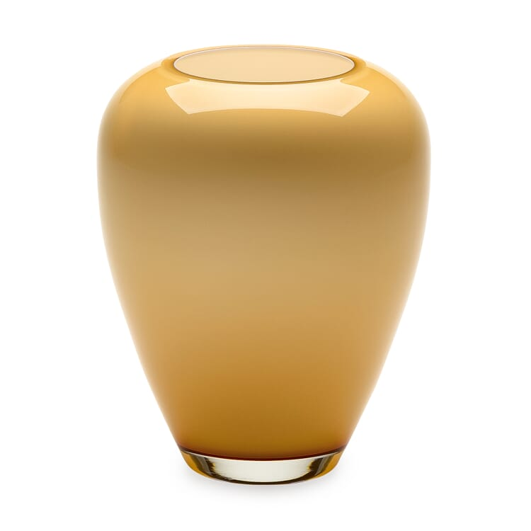 Vase Harzkristall honiggelb