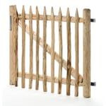 Gate for the Picket Fence Made of Chestnut Wood