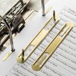 Brass-Plated Steel Sheet Filing Clips