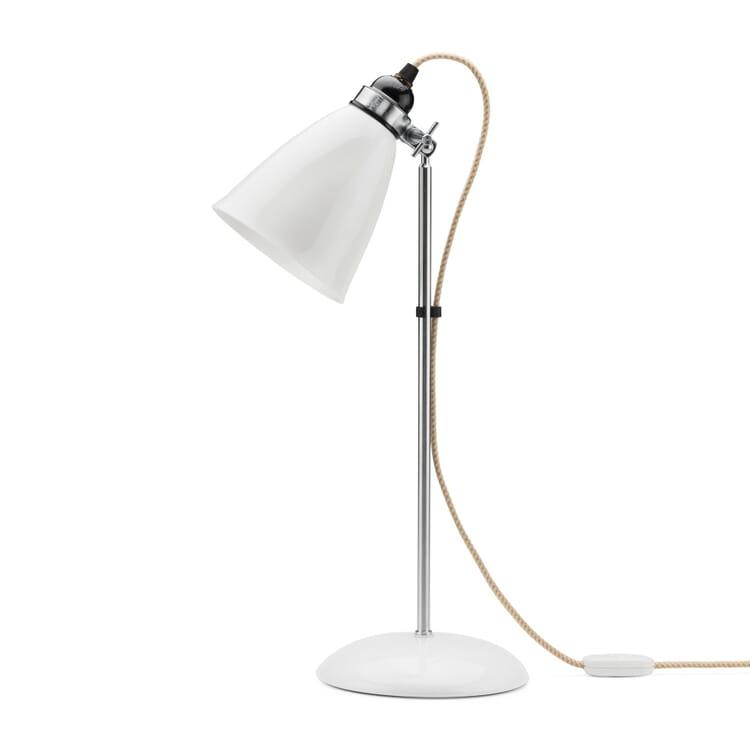 Bone China Table Lamp, White