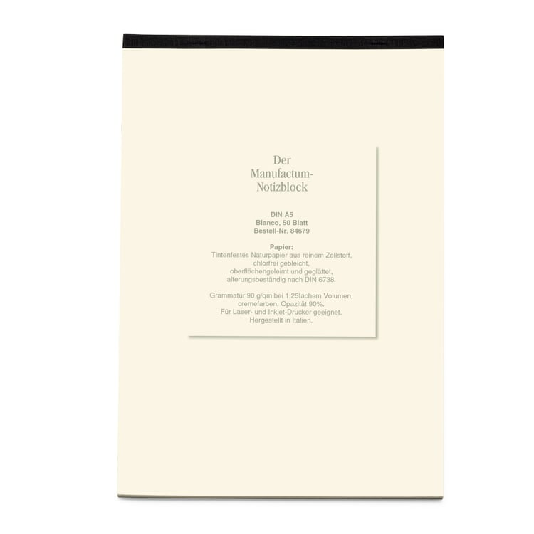 Manufactum A5 Notepad Blank