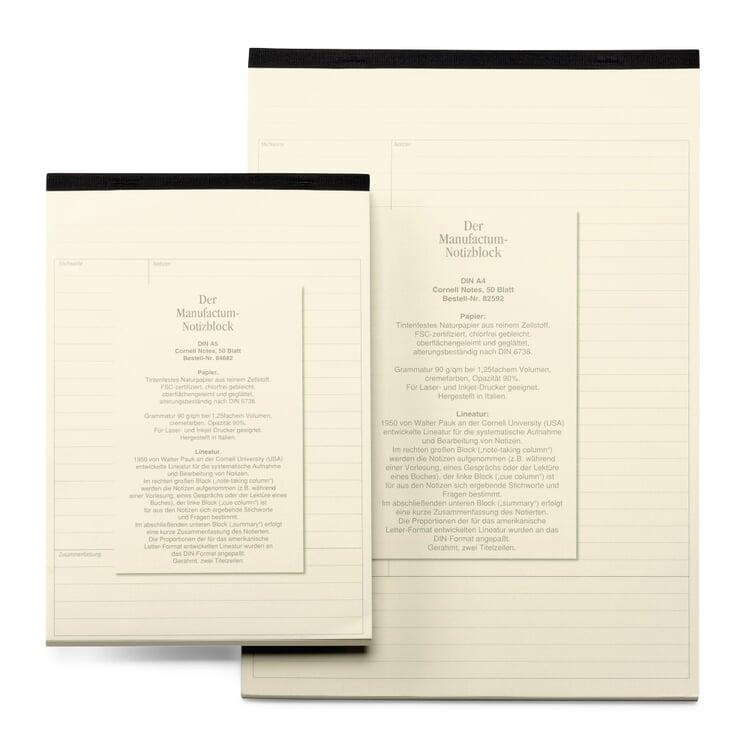 Manufactum Notizblock DIN A5 Cornell Notes
