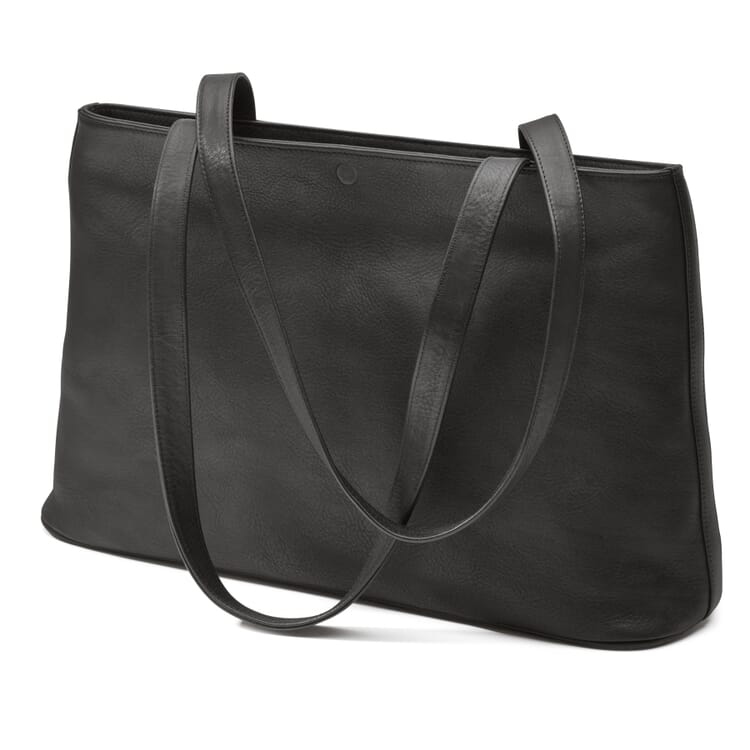 Sonnenleder Leather Shopping Bag, Black