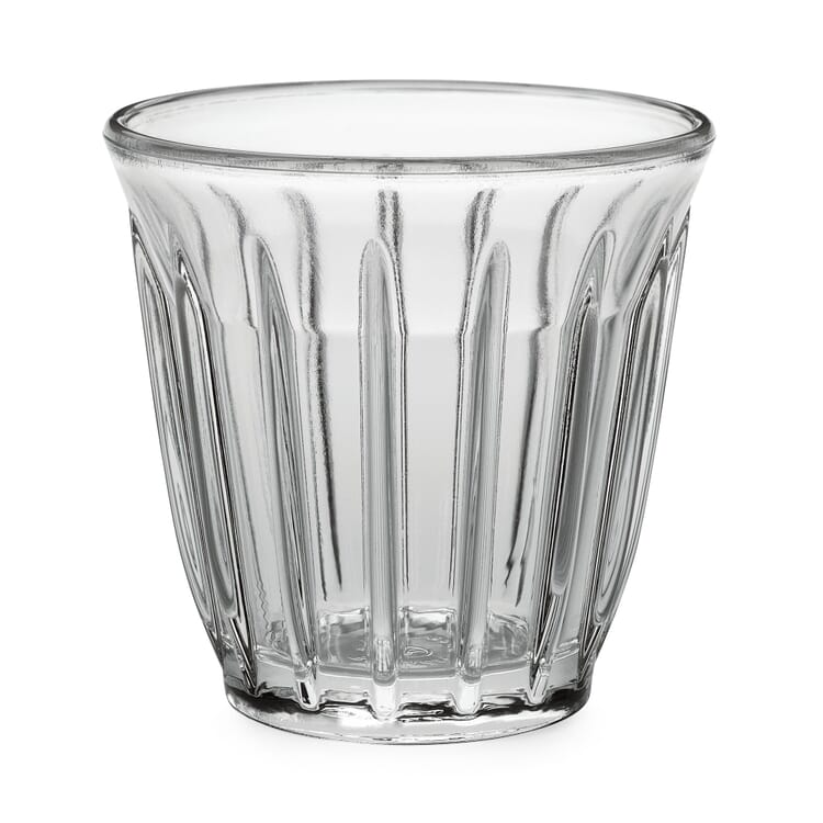 Ribbed Glass for Espresso and Coffee by La Rochère, 80 ml