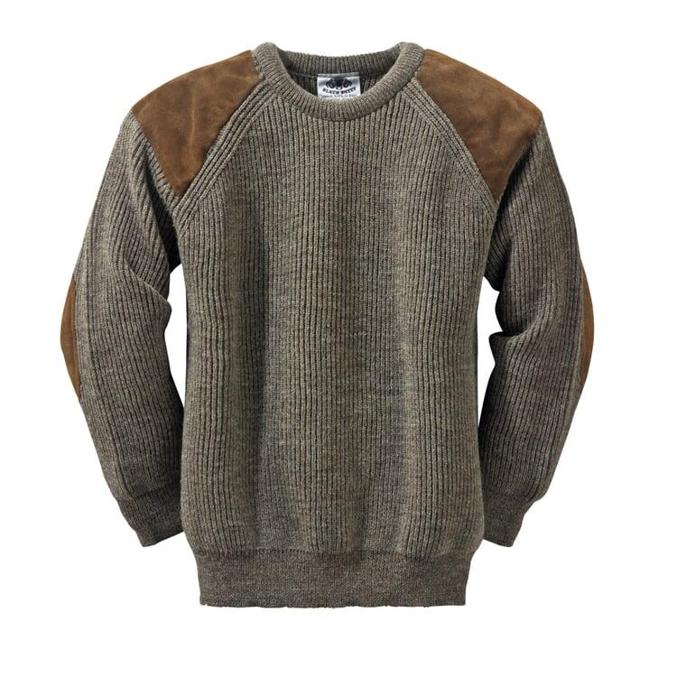 Black Sheep Knitted Pullover Natural Dark Grey Mix