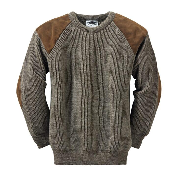 Black Sheep Knitted Pullover, Natural Dark Grey Mix