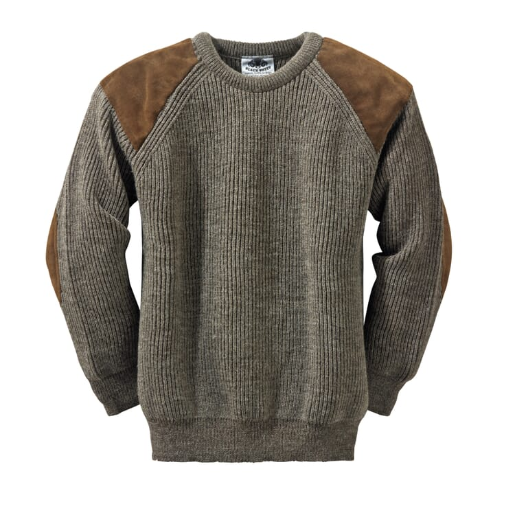 Black Sheep Strickpullover, Natur-Dunkel-Melange
