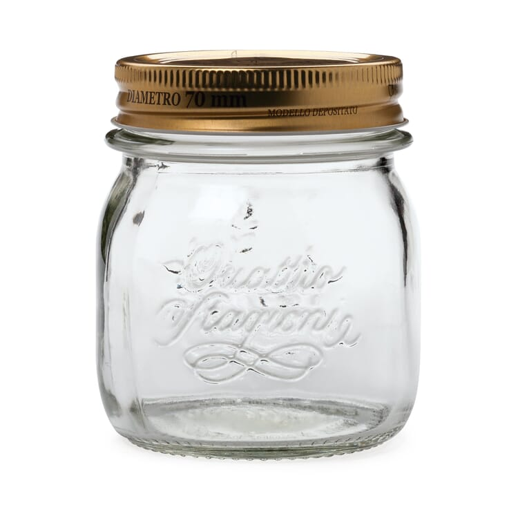 Preserving Jar with Screw Lid, 4 × 0,25 l