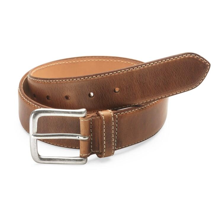 Kreis Natural Oil-Tanned Leather Belt Brown