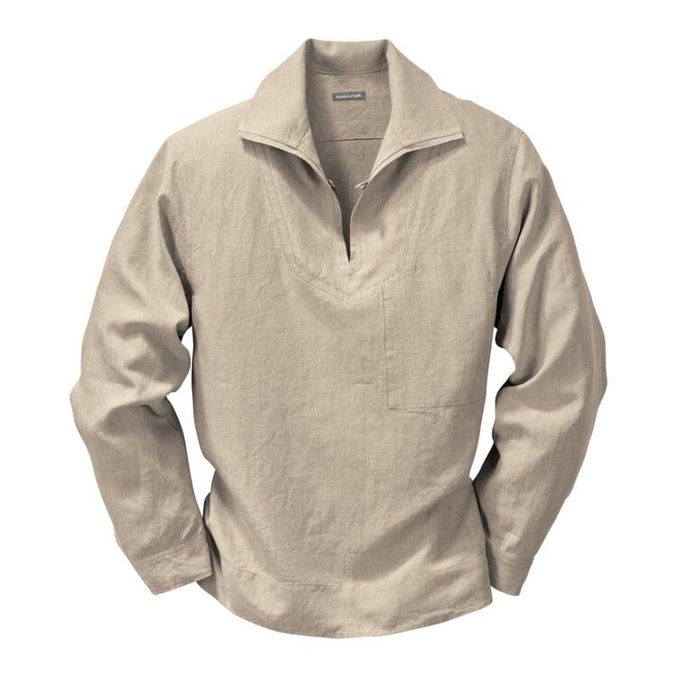 Linen Fisherman's Shirt Nature