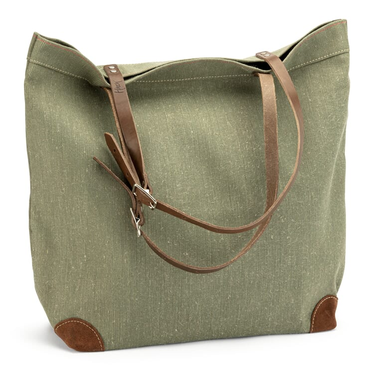 Market Bag Made of Canvas, Green
