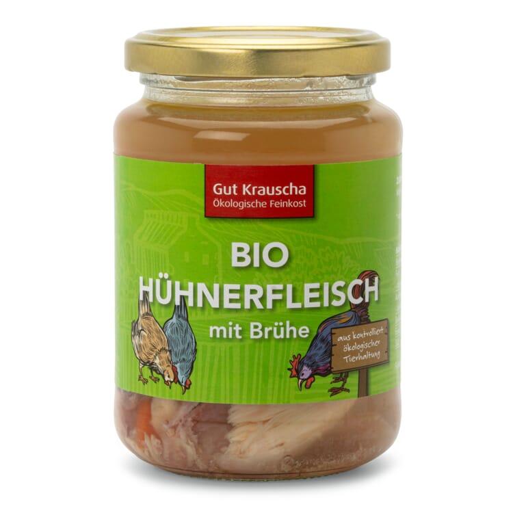 Gut Krauscha Bio-Hühnerfleisch mit Brühe
