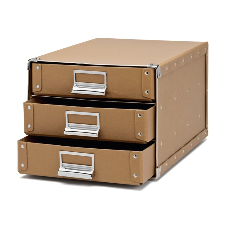A4 Filing Cabinet Made of Pasteboard Brown