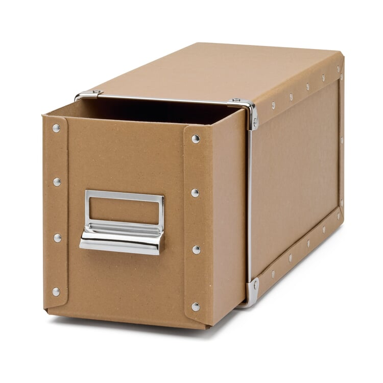 CD Storage Box with 1 Drawer Brown