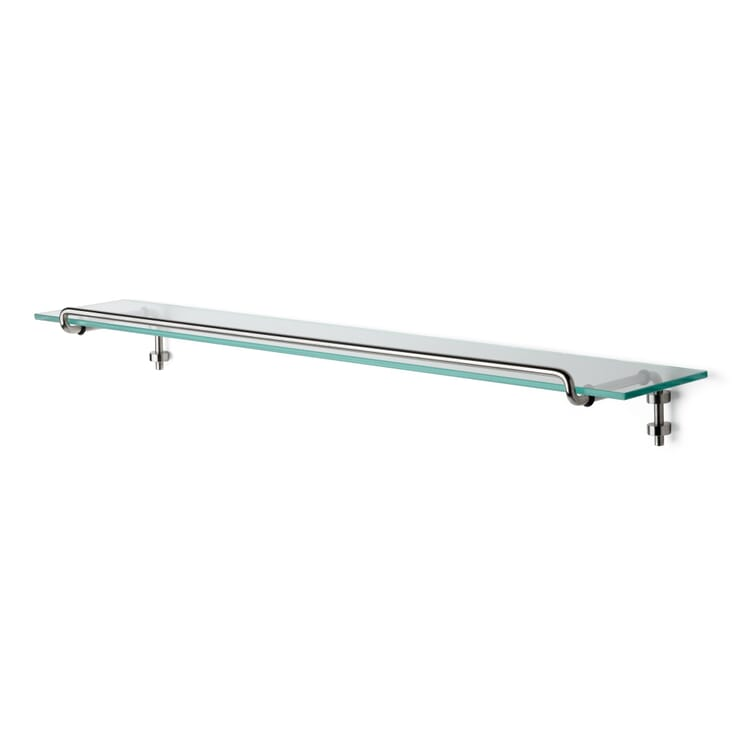 Shelf holder, stainless steel, with glass shelf