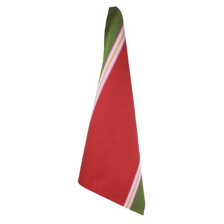 Geschirrtücher Karo, Rot/Grün