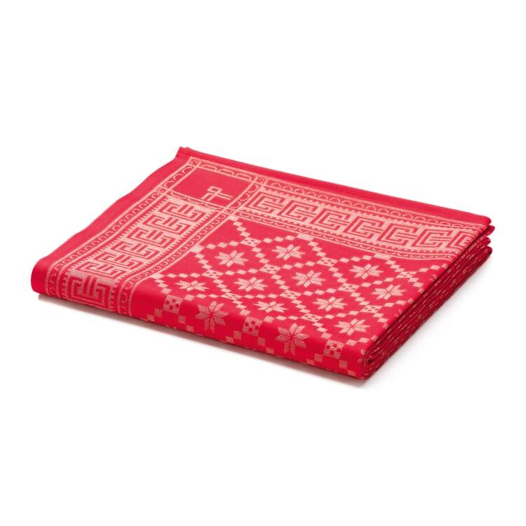 Schwedische Tischwäsche rot, 150 x 260 cm