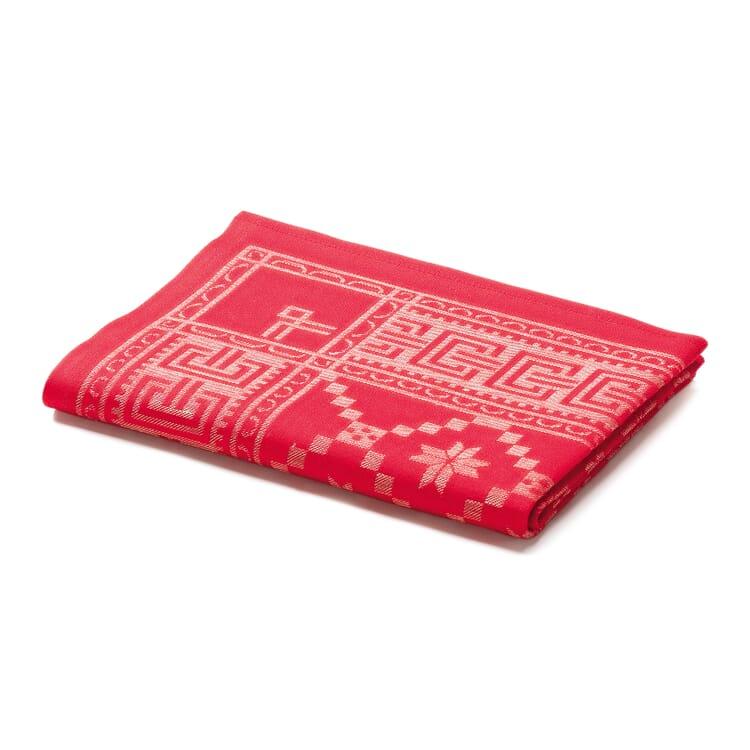 Schwedische Tischwäsche rot, 50 x 150 cm