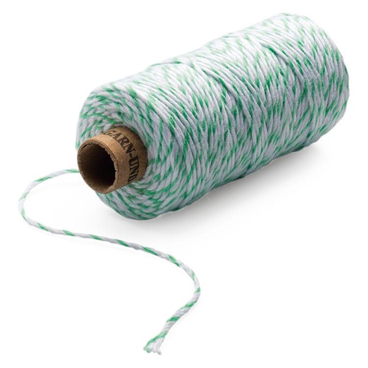 Baker's Yarn, Mint green-White