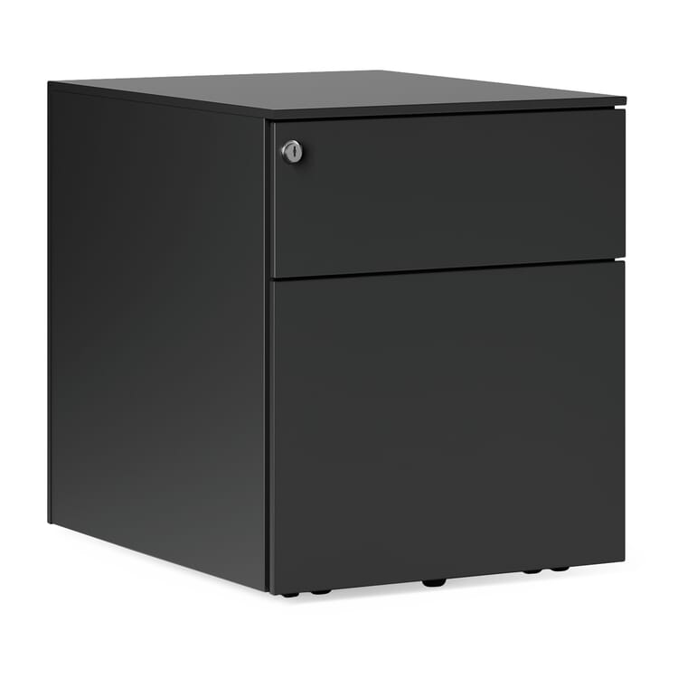 Drawers on Wheels Kubo, 2 drawers, Black-Grey RAL 7021