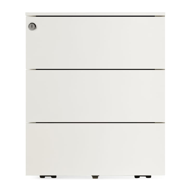 Drawers on Wheels Kubo, 3 drawers, Pure White RAL 9010