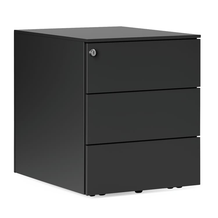 Drawers on Wheels Kubo, 3 drawers, Black-Grey RAL 7021