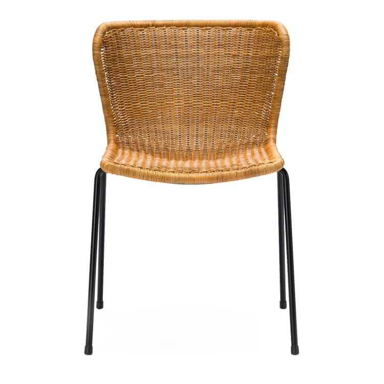 Stuhl C603 Schwarz / Natur
