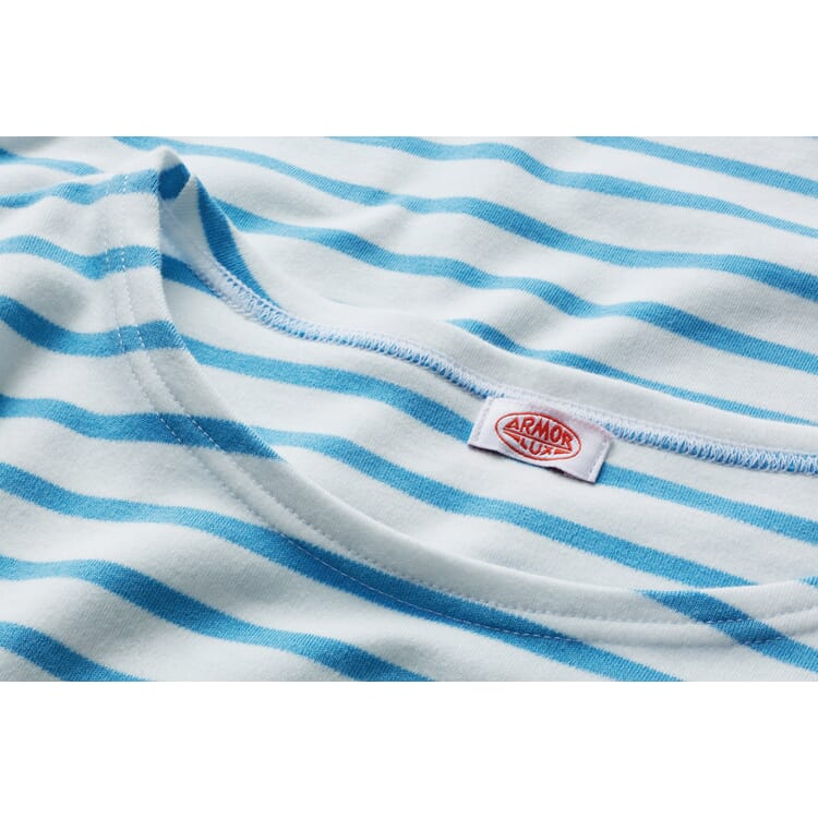 Armor lux Damen-Matrosenshirt, Weiß-Hellblau