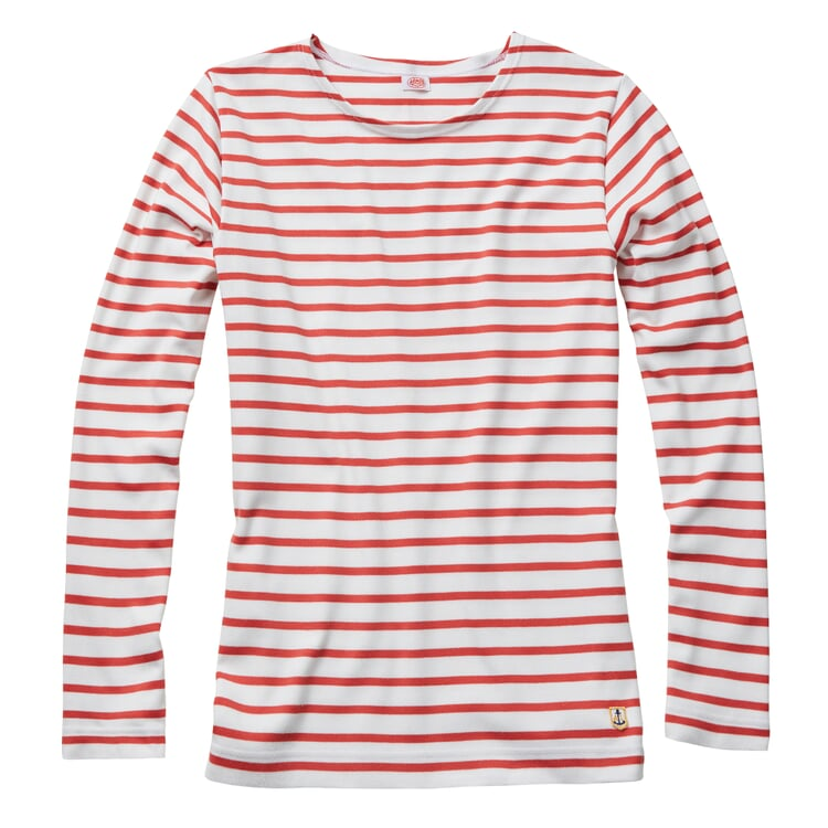 Armor lux Damen-Matrosenshirt Weiß-Rot