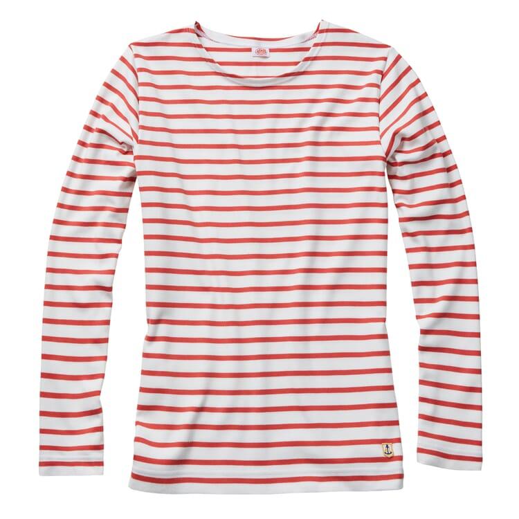 Armor lux Damen-Matrosenshirt, Weiß-Rot
