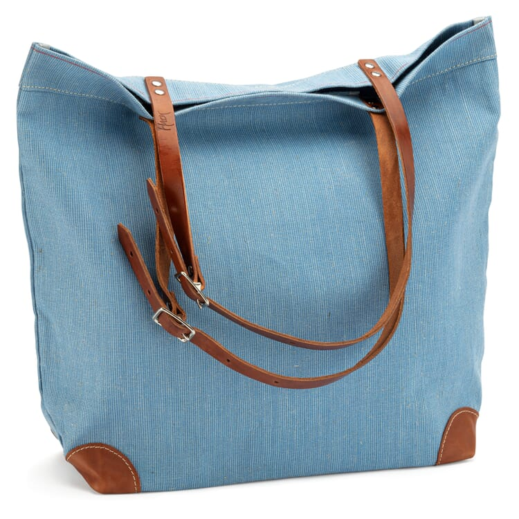 Market Bag Made of Canvas, Lightblue