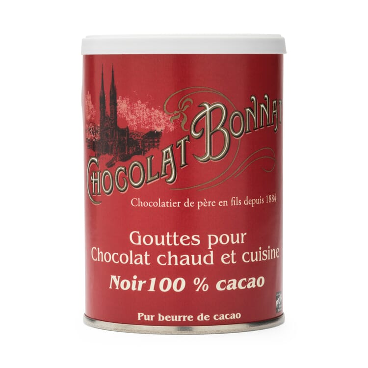 Chocolate Drops 100% Cocoa by Bonnat