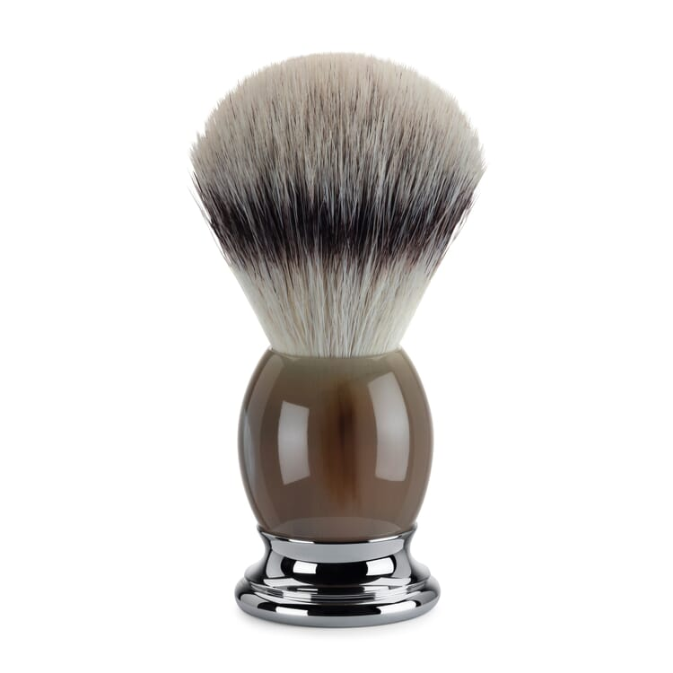 Shaving Brush with Synthetic Fibre Sophist by Mühle, Horn Handle