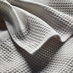 Guest Towel Waffle Weave Made of Half Linen Light Gray