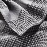 Guest Towel Waffle Weave Made of Half Linen Grey