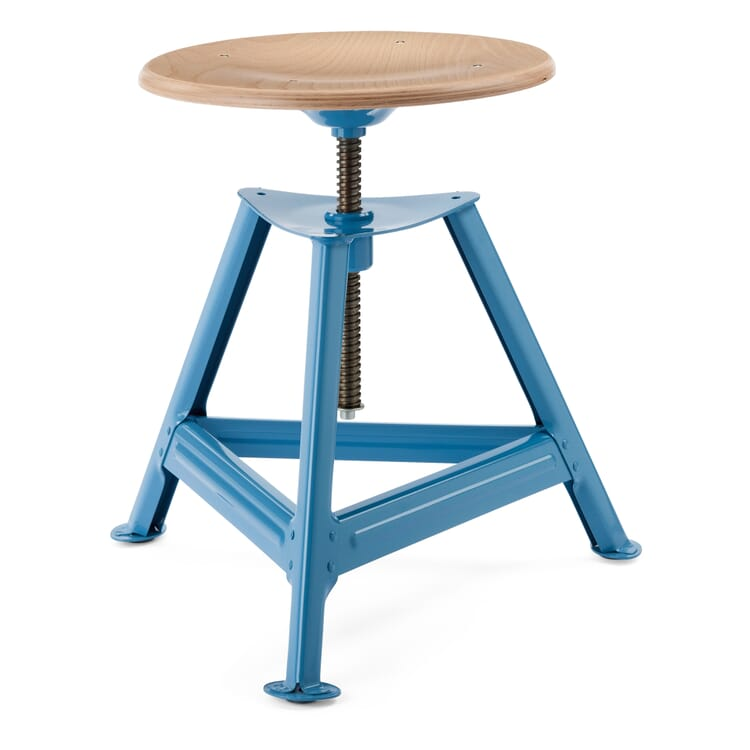 Chemnitz Stool Height-Adjustable, Light Blue