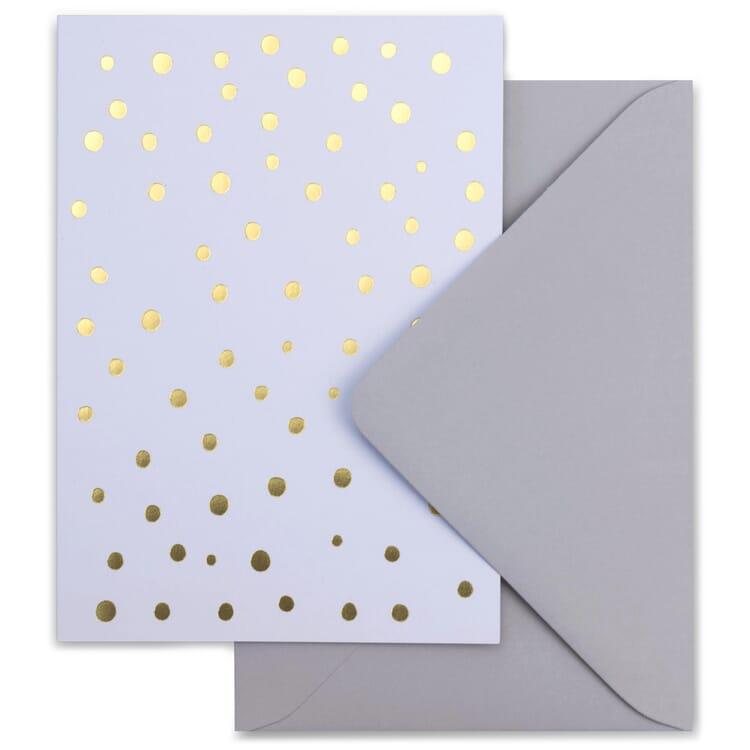 Weihnachtskarte grafisch gold, Schnee
