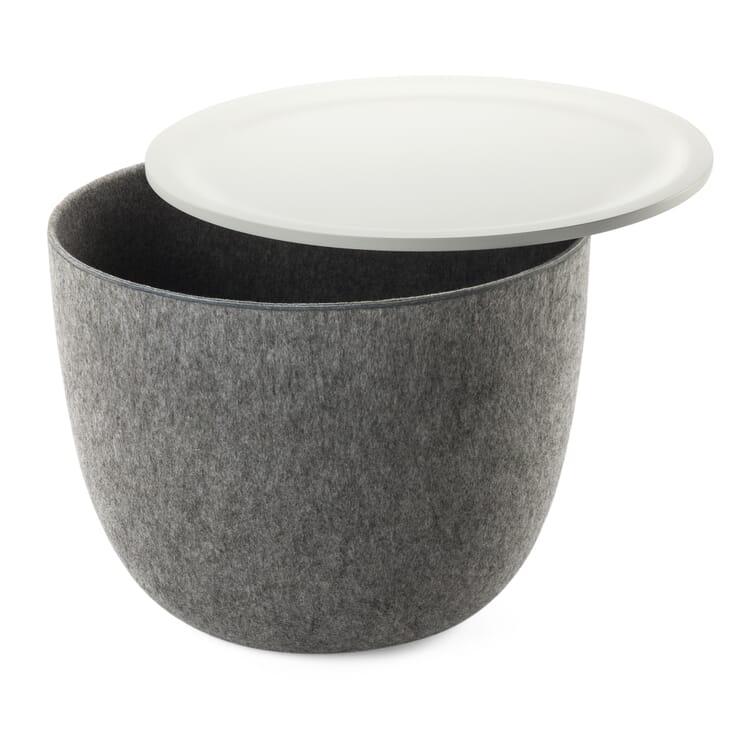 Beistelltisch Ronda, Grau / Weiß
