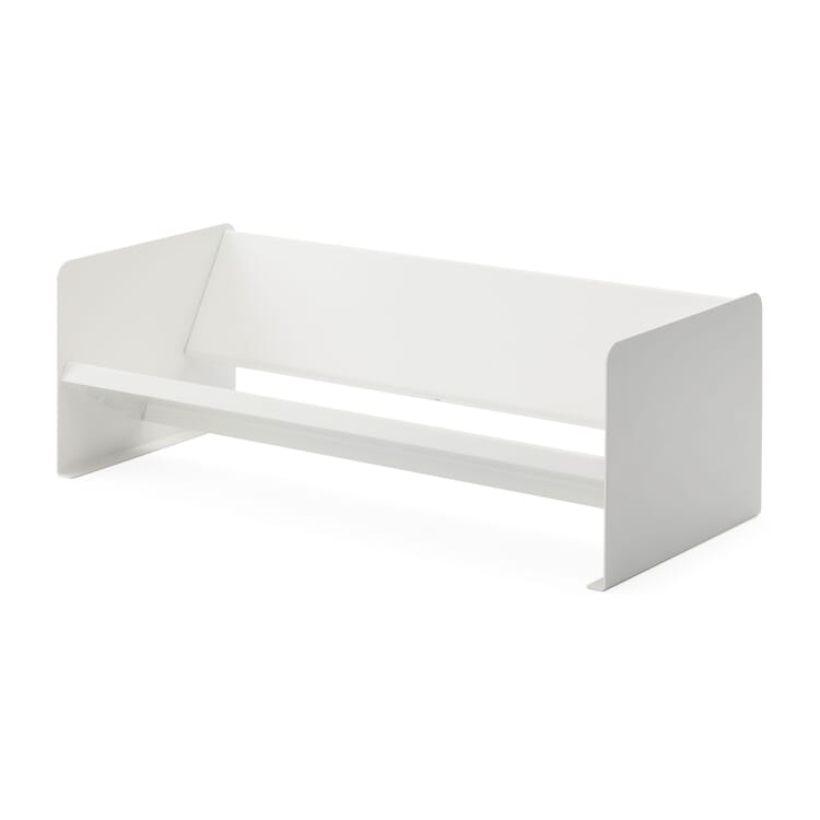 Desktop Bookcase Made of Sheet Steel, White
