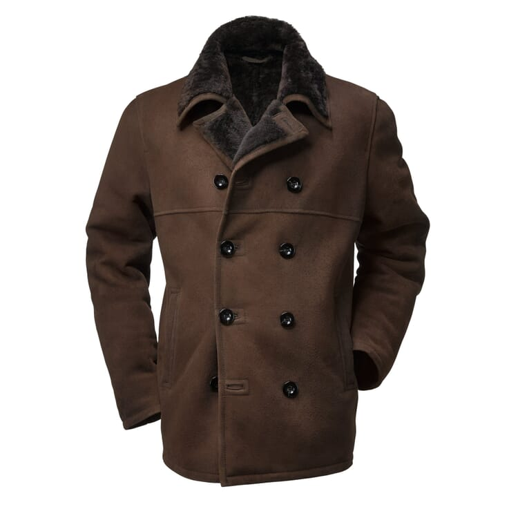 Men's Icelandic Lambskin Jacket, Darkbrown