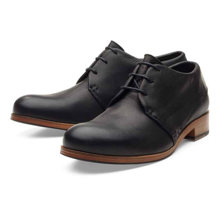 Zeha Men?s Cow Leather Loafer, Black