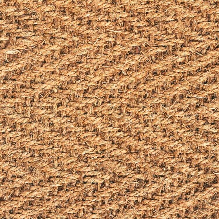 Teppichmuster Kokos natur
