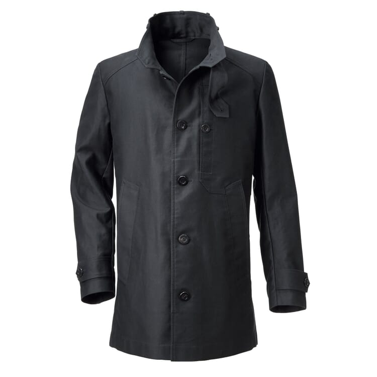 Men's Car Coat with Banded Collar by Manufactum