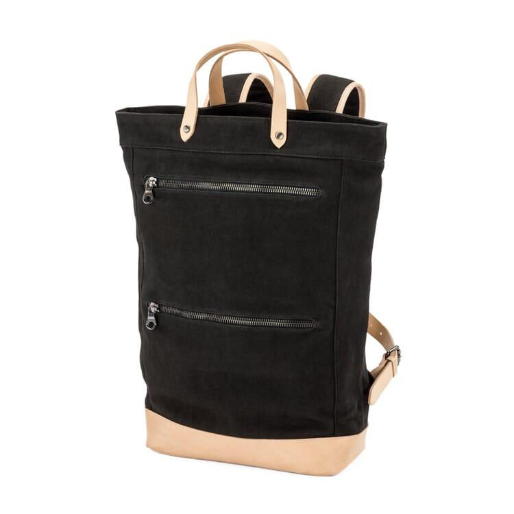Manufactum Canvas-Backpack, Schwarz